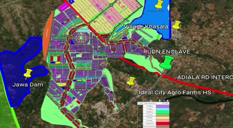 rudn enclave rawalpindi location map