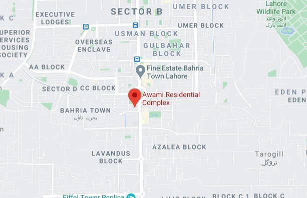 Awami Residential Complex Location Map