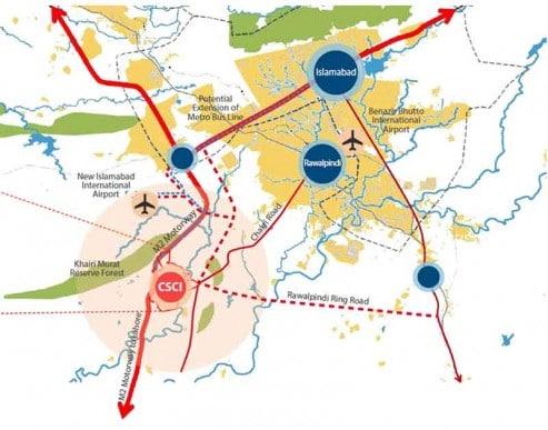 capital smart city location map