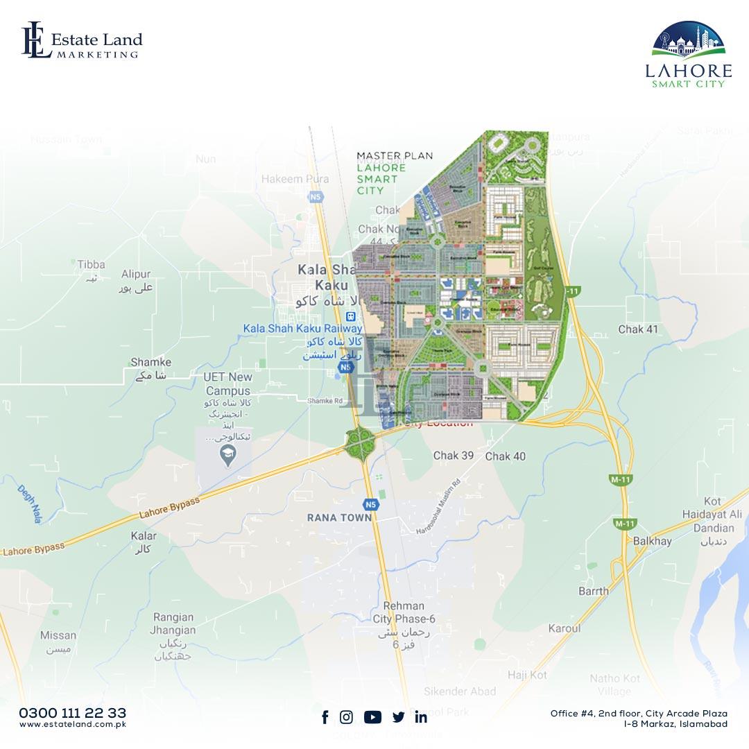 Lahore smart city location map