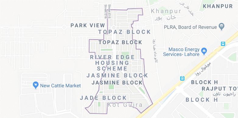 park view city Lahore Location Map