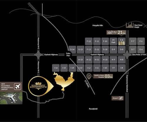 Taj Residencia Islamabad location map