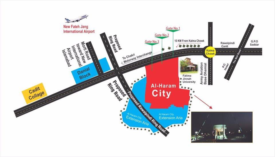 Al Haram City Rawalpindi location map