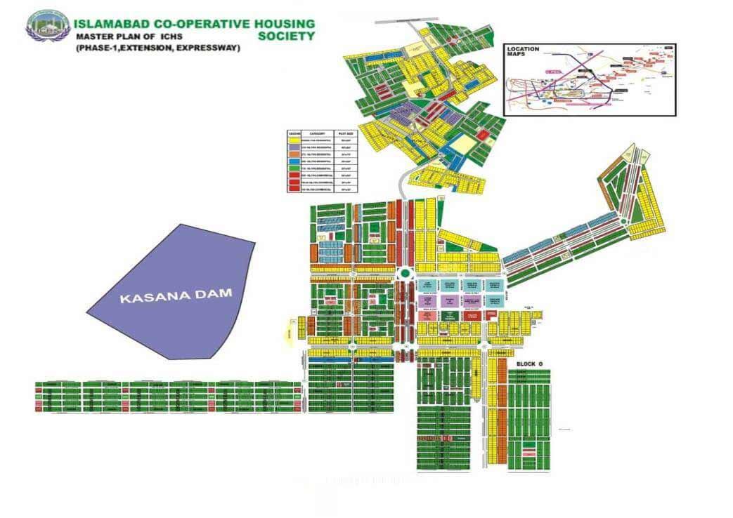 master plan of ICHS Islamabad cooperative housing society
