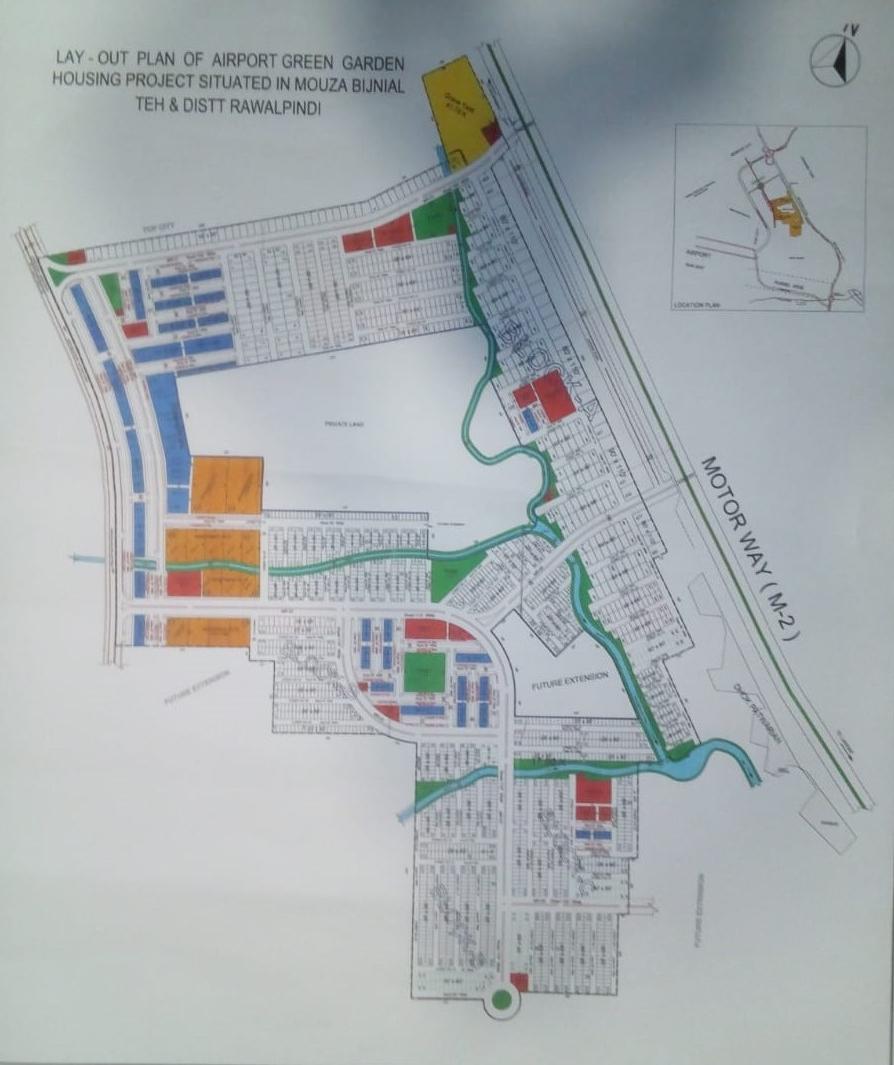 master plan of Airport Green Garden Islamabad