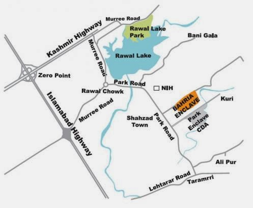 Bahria Enclave Islamabad location map