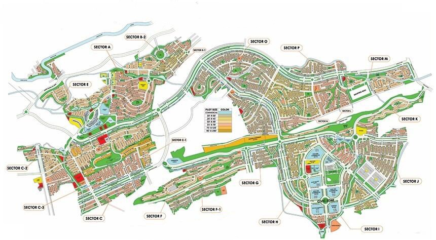Bahria Enclave Islamabad master Plan