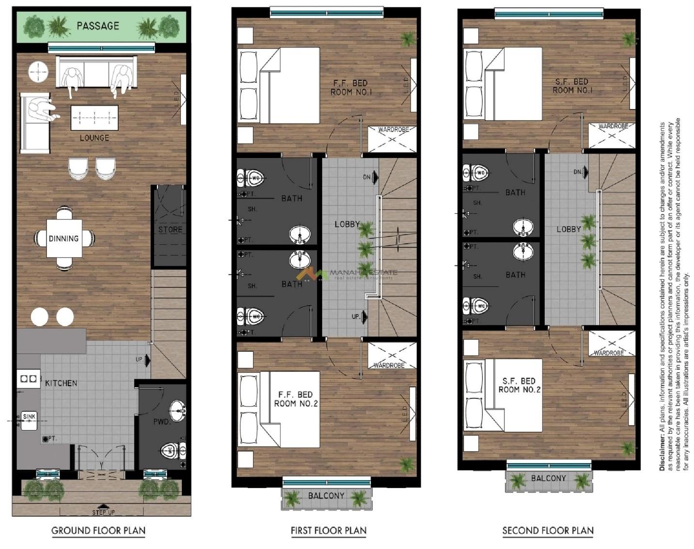 floor plan of Bahria Greens homes Karachi