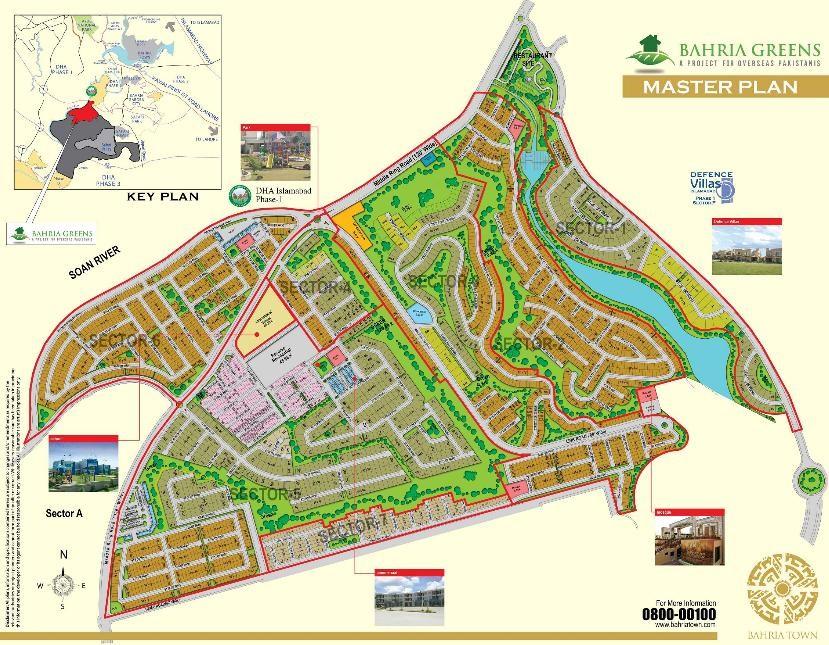 master plan of Bahria Greens Karachi
