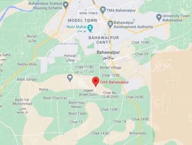DHA Bahawalpur location map
