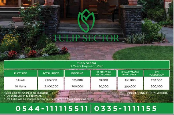 payment plan of tulip block in Grand City