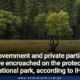 Government and private parties have encroached on the protected national park, according to IHC