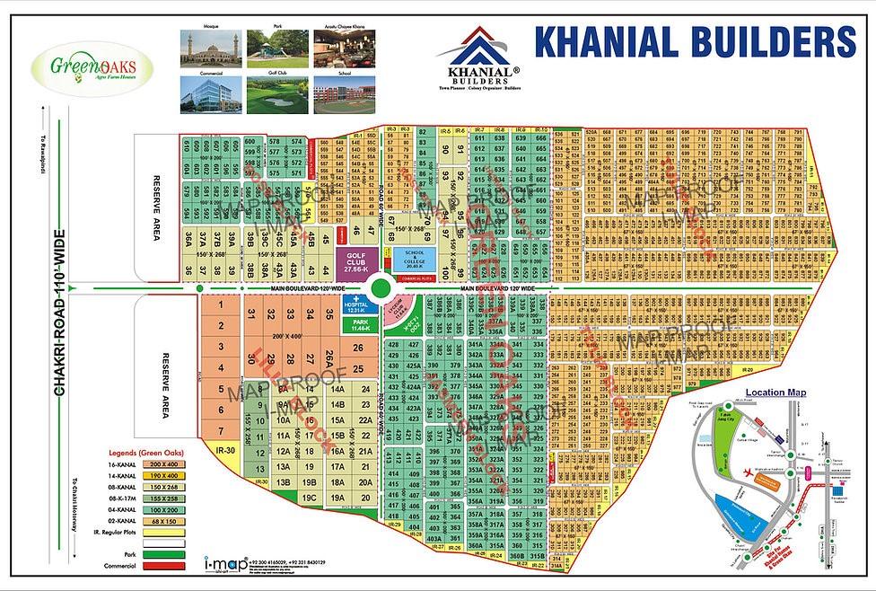 master plan of green oaks Islamabad