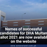 Names of successful candidates for DHA Multan Ballot 2021 are now available on the website
