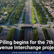 Piling begins for the 7th Avenue Interchange project in Islamabad by CDA