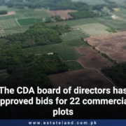 The CDA board of directors has approved bids for 22 commercial plots