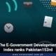 The E-Government Development Index ranks Pakistan153rd
