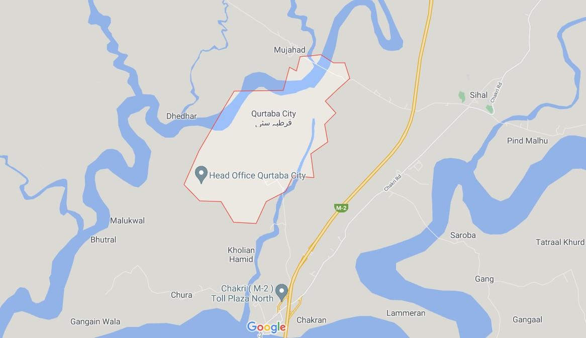 Qurtaba City location map