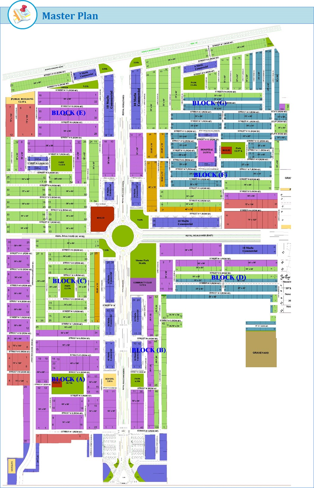 royal orchard multan master plan
