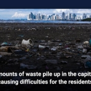 Amounts of waste pile up in the capital, causing difficulties for the residents