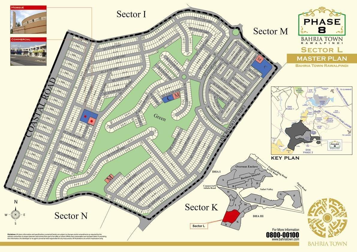 phase 8 master plan Bahria Town