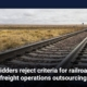 Bidders reject criteria for railroad freight operations outsourcing