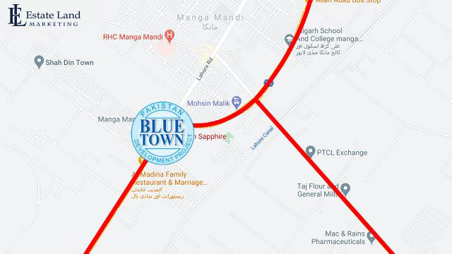 Blue Town Sapphire Location Map