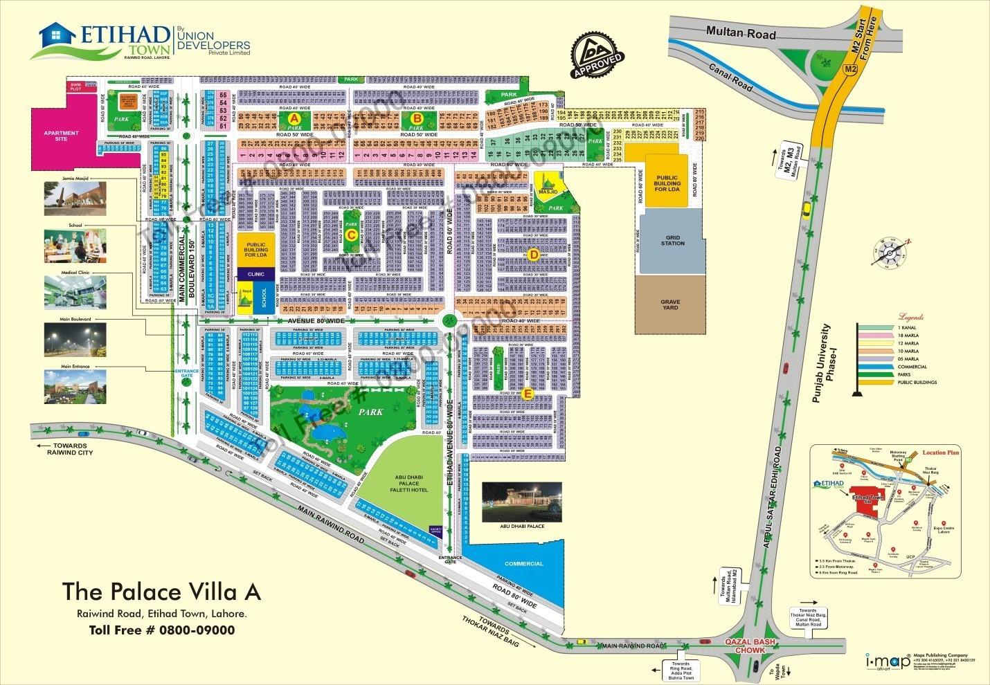 master plan of Etihad town Lahore