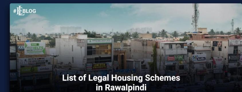 List of Legal Housing Schemes in Rawalpindi 2021 to 2022