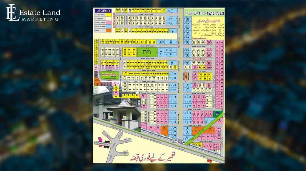 Master Plan Model Town Faisalabad