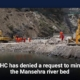 PHC has denied a request to mine the Mansehra river bed