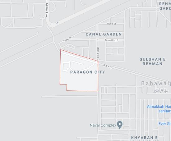 Paragon City Bahawalpur location map