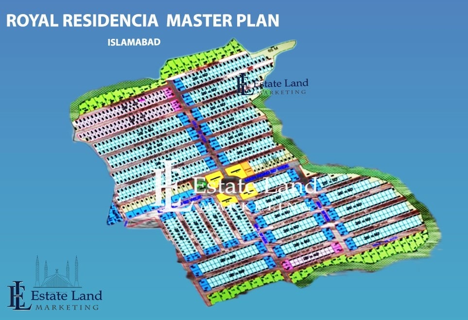 master plan of royal residencia Islamabad