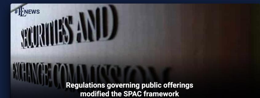 Regulations governing public offerings modified the SPAC framework