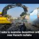 SC asks to examine demolition order near Karachi nullahs