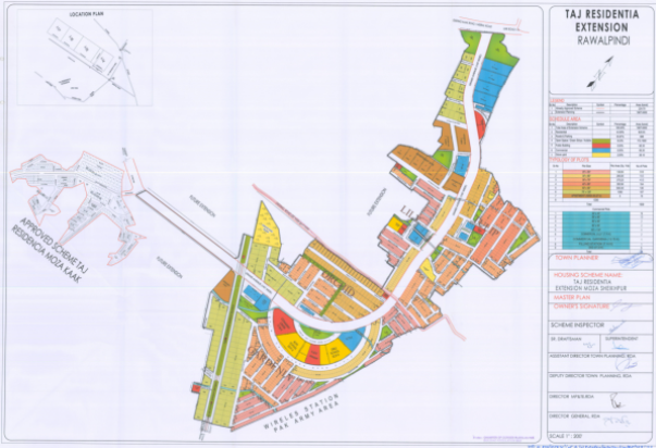 Taj Residencia No Objection Certificate Approved land area map
