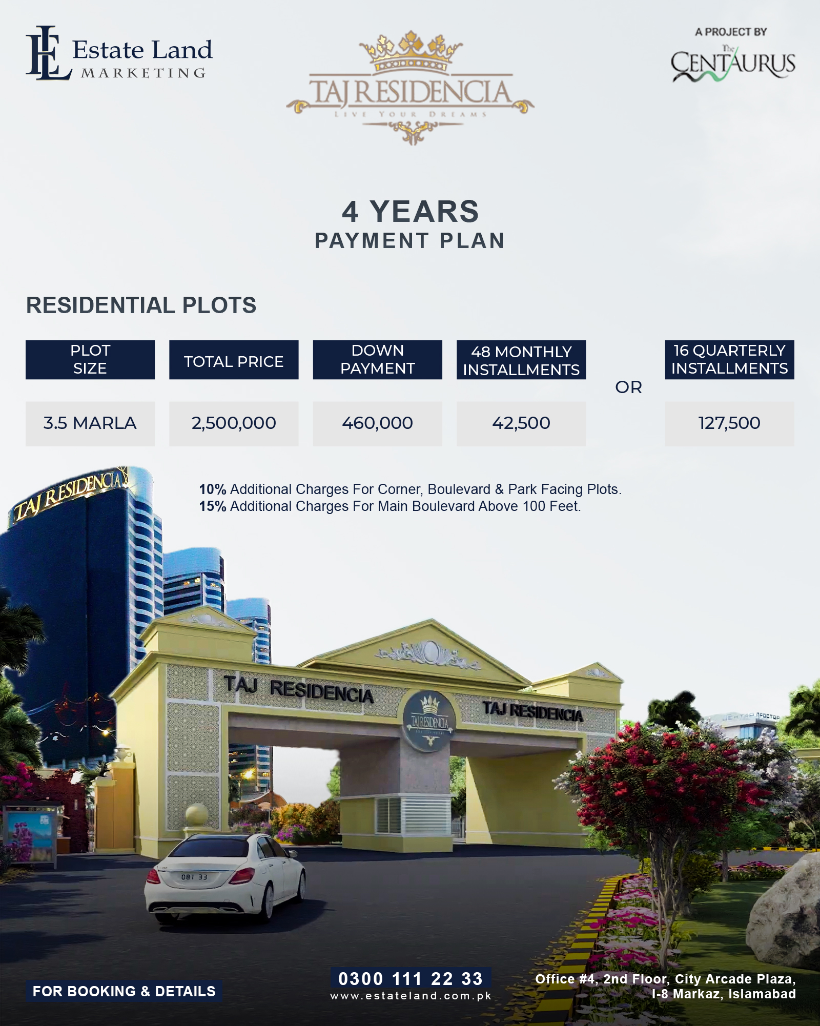 3.5 marla housing scheme in islamabad on installments
