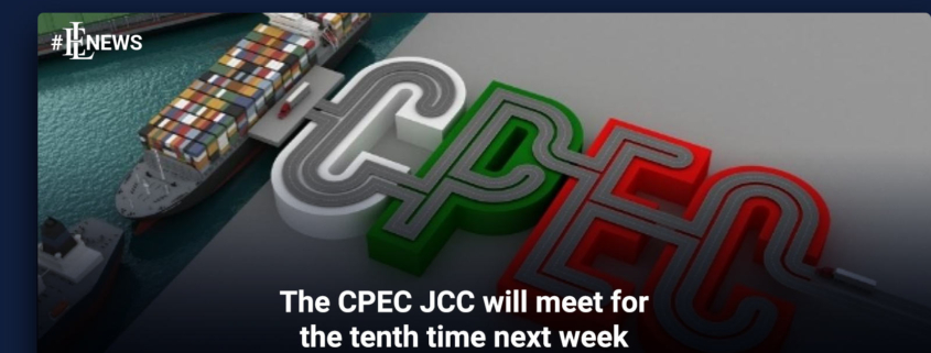 The CPEC JCC will meet for the tenth time next week