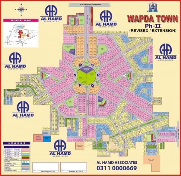 phase 2 Master Plan for Wapda Town Multan