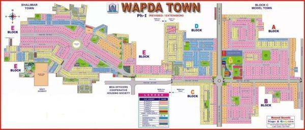 phase 1 Master Plan for Wapda Town Multan