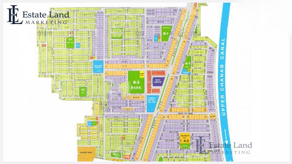 master plan of Wapda Town Gujranwala