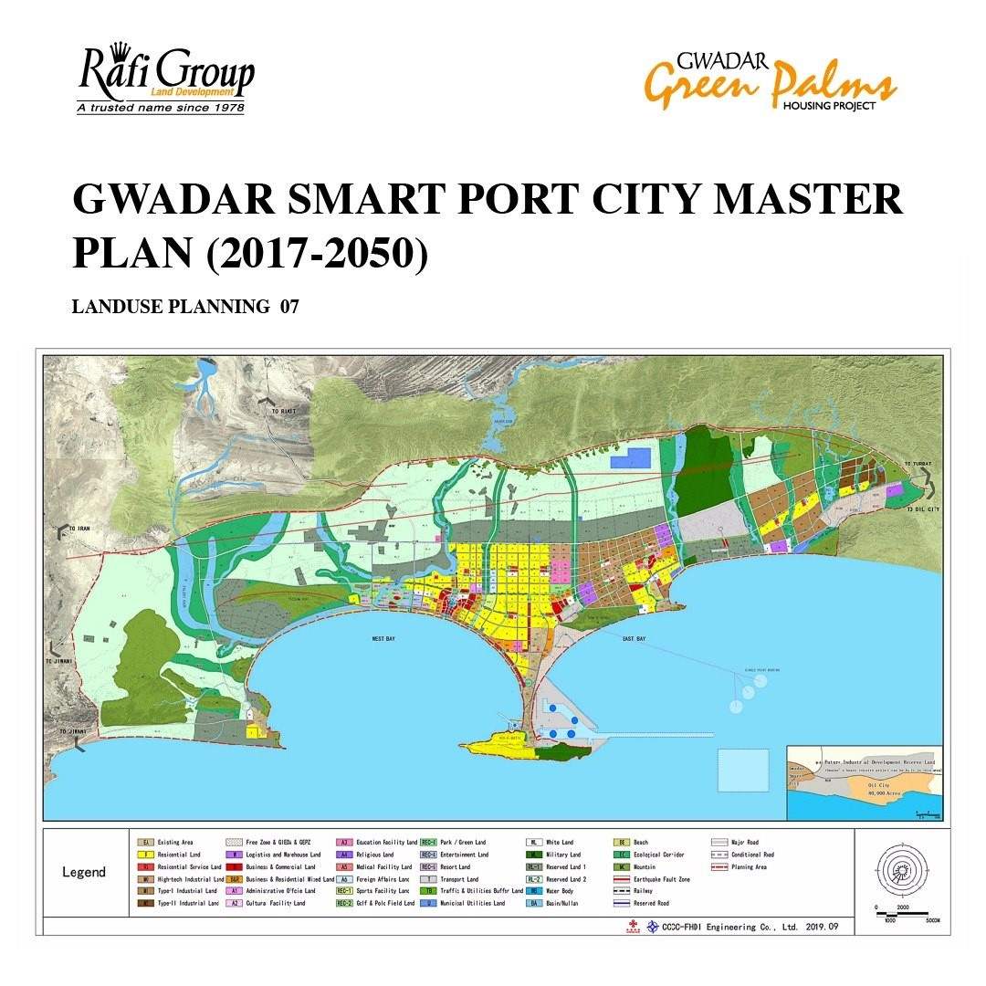 master plan of green palm gwadar
