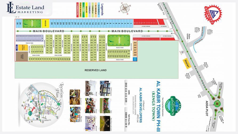 Kings Town master plan in housing scheme in lahore