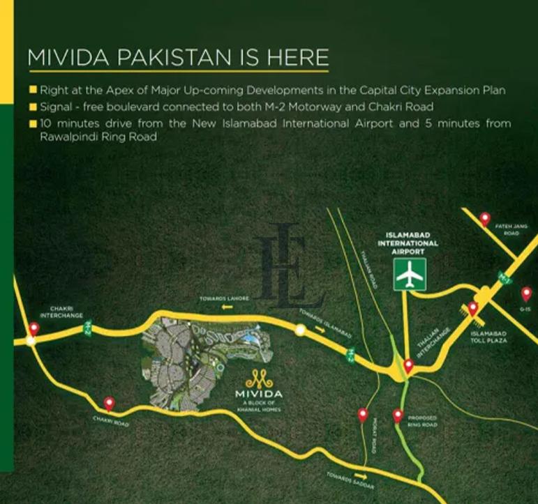 Mivida slamabad location map