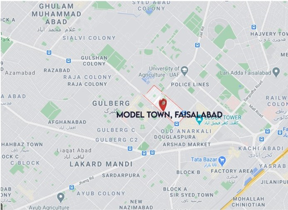 Model Town Khurrianwala Faisalabad Location Map