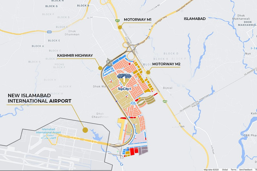 top city 1 location map