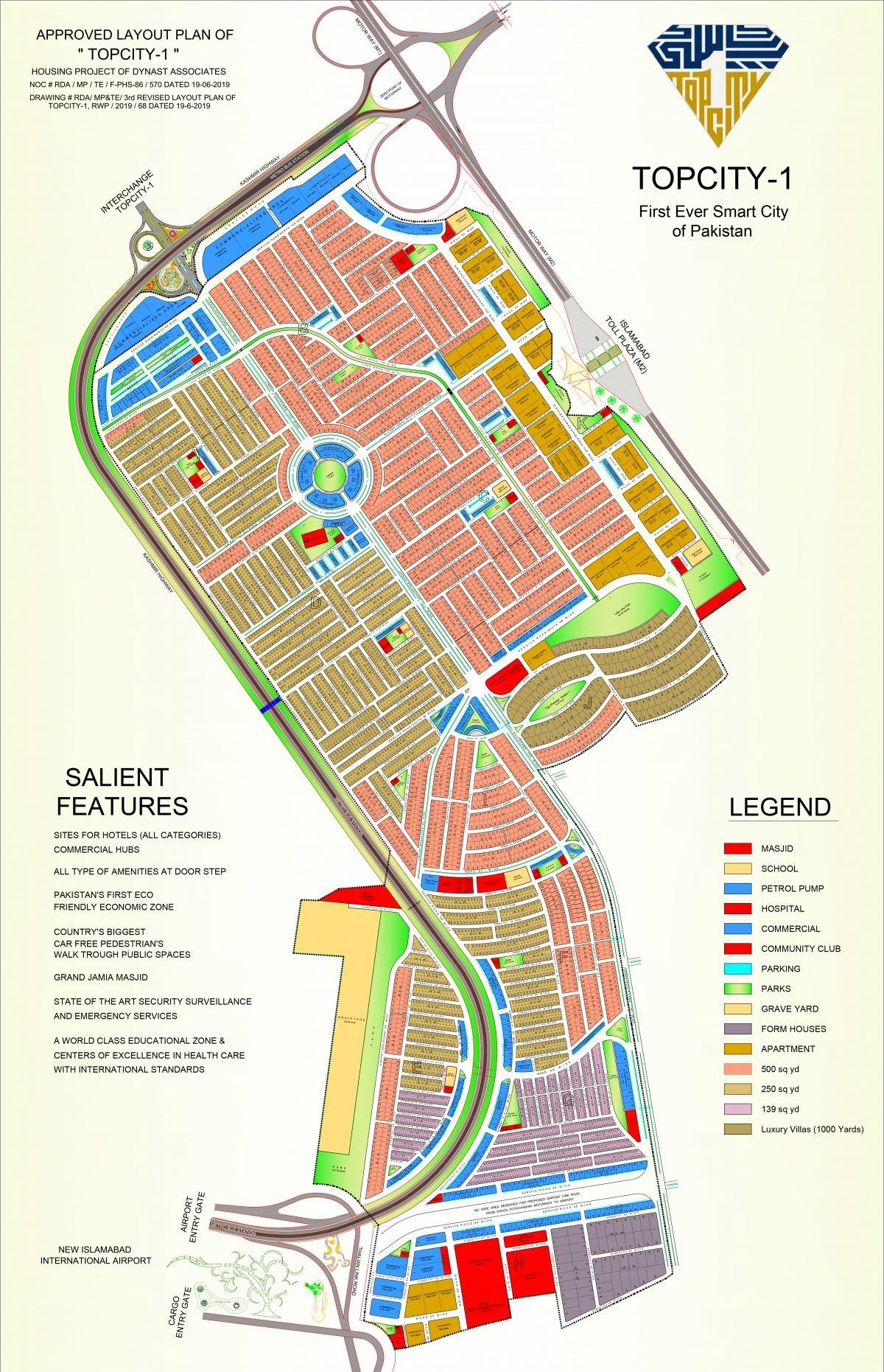 master plan of top city 1 Islamabad