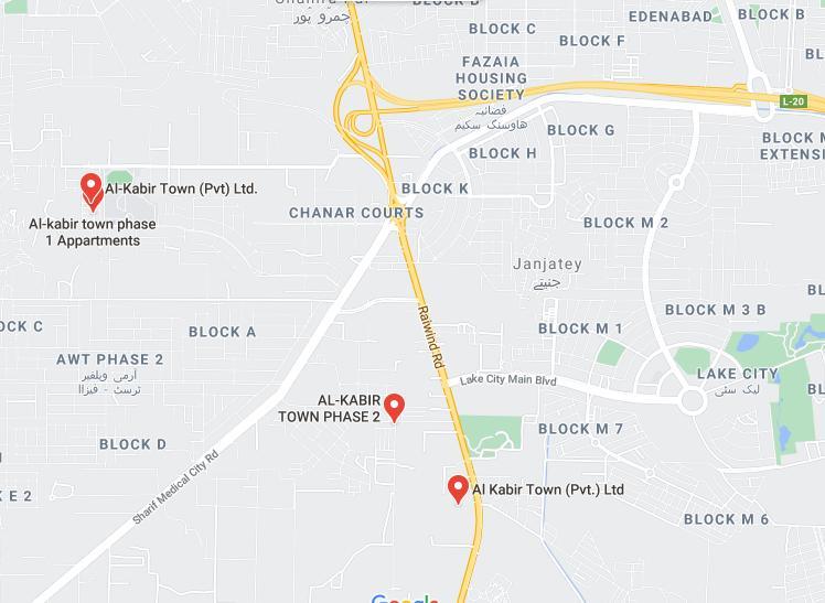 Location Map of Al Kabir Town