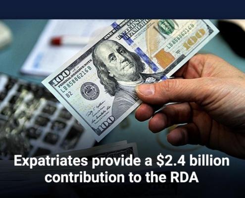 Expatriates provide a $2.4 billion contribution to the RDA