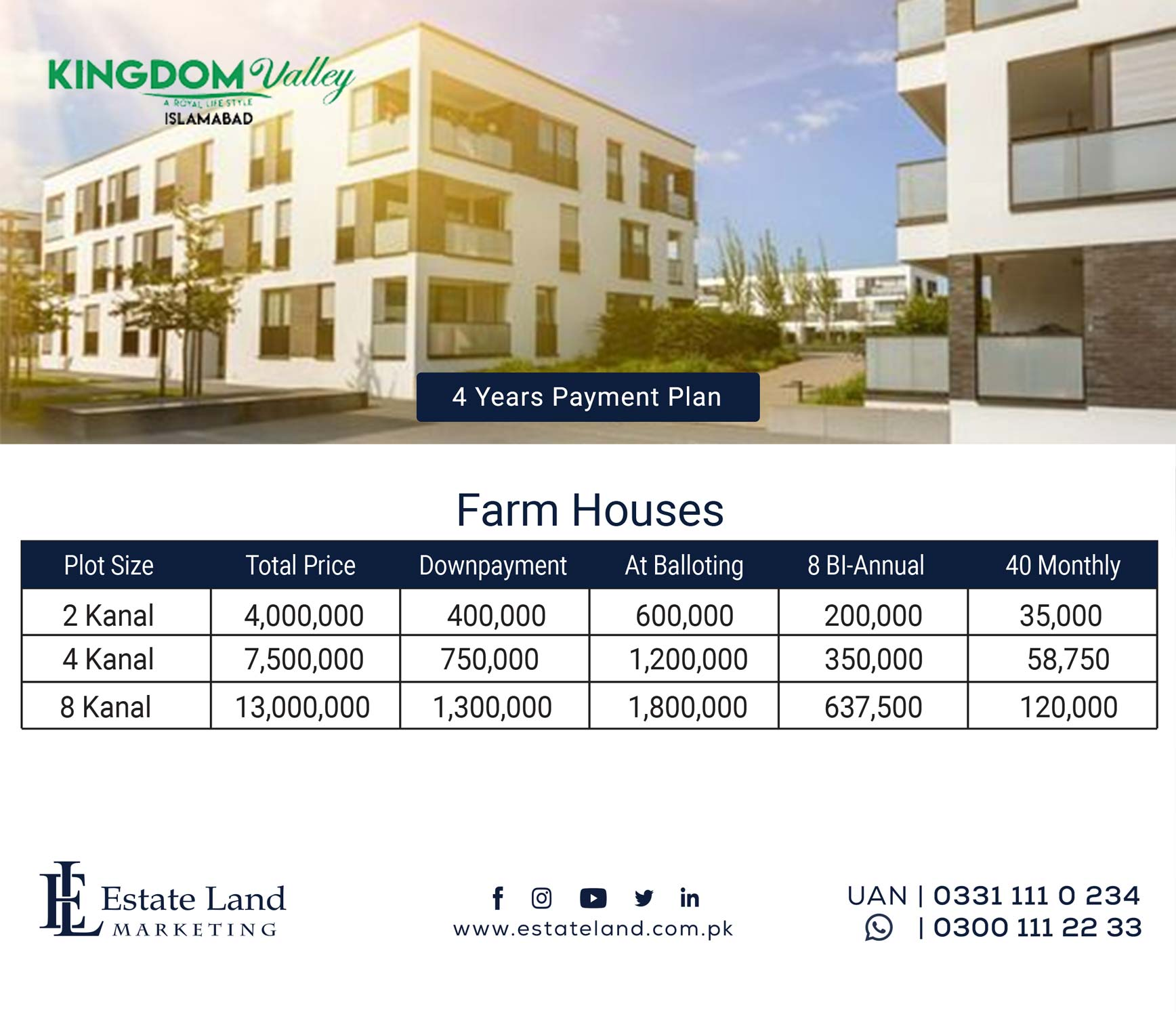 Valley Farmhouse payment plan